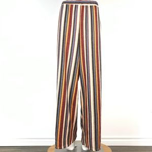 Forever 21 + wide leg Multicoloured striped pants